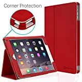 iPad Air 2 9.7' Case, [Corner Protection] CaseCrown Bold Standby Pro (Red) with Sleep/Wake & Multi-Angle Viewing Stand