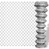 vidaXL Grillage galvanisé en rouleaux à mailles carrées 15x1 m Clôture de jardin