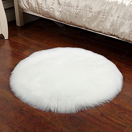 TopHomer Alfombra suave de piel de oveja sintética mullida alfombra de área mullida alfombra para...