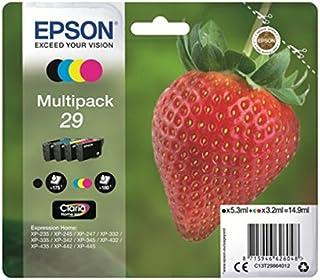 Epson 29 Serie Fragola, Cartuccia Originale Getto d'Inchiostro Claria Home, Formato Standard, Multipack 4 Colori, con Amaz...
