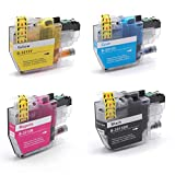 vhbw 4X Cartuchos de Impresora con Chip XL para Brother DCP-J572DW, DCP-J770, DCP-J772DW, DCP-J774DW, MFC-J490, MFC-J491DW, MFC-J497DW