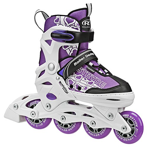 Stryde Youth Adjustable Inline Skates Small White/Purple