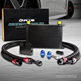 25 Row Engine Aluminum Transmission Oil Cooler Kit Compatible For BMW N54 Engine Twin Turbo 135 E82 335 E90 E92 E93