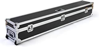 Displays2go Trade Booth Travel Case w/Wheels, Butterfly Latches – Black (CACASE01)