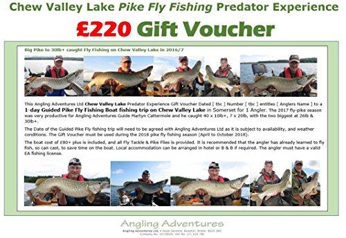 Kauen Valley See–Pike Fly Fischerei–£220Geschenk Gutschein–Angeln Abenteuer Predator Erfahrung Day Boot Angeln für 1Angler