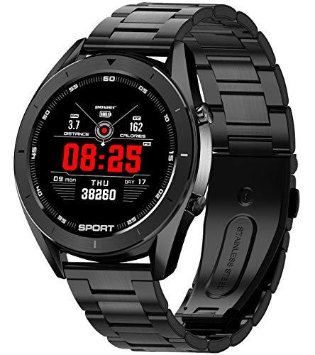 Pulsuhr Smartwatch Damen Herren Multi-Zifferblätter Fitness Armband Musik Sport Uhr Tracker IP68 Wasserdicht
