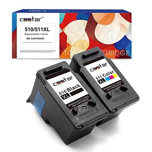 Csstar - Refabricados PG-510XL CL-511XL - Cartuchos de tinta para impresora Canon Pixma iP2700 iP2702 MP250 MP280 MX320 MP230 MP240 MP495 MP260 MP270 MP490 MX340 MX350 MX360 MX410, negro y color