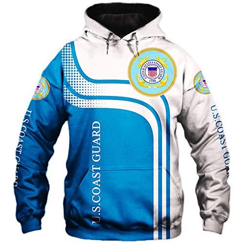 SPONYBORTY-H Männer Hoodies Zum Coast-Guard Schädel Fans 3D Drucken Mode Beiläufig Pullover/Zip Jacke Tops Teen / A1 / 2XL