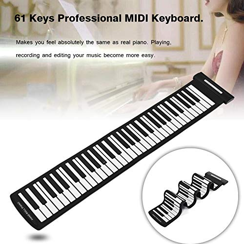 Roll Up Piano Portable 61 Keys Oplaadbare USB MIDI Electronic Music Instrument Hand Roll Piano Milieu Silicone Keyboard Kind Volwassen Toy Gift