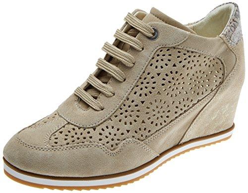 Geox Damen D Illusion B Sneaker, Beige (Lt Taupe/Beige), 40 EU