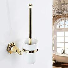 Makkelijk te gebruiken Toiletborstelhouders Europese messing vergulde badkamerproducten in reinigingsborstels badkameracce...