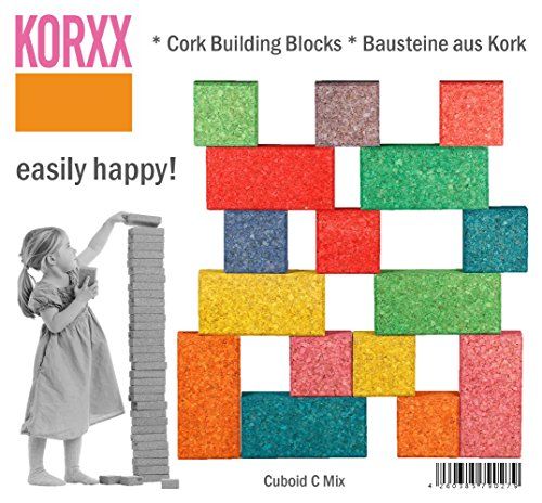 Korxx Cuboid Mix korxx4260385790279860g Farbige Building Block in Beutel (19)