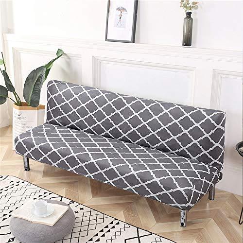 LiveGo Sofa-Schonbezug, elastisch, geometrisches Muster, Sofabettbezug, vollständig zusammenklappbar, Sitzbezüge, Couch-Sofa, Futonbezug (grau)
