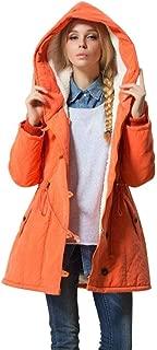 Best slim plain zipper hooded pocket women's overcoat Reviews