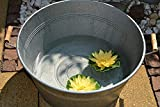 Zinkwanne, Durchmesser 58 cm- große wasserdichte stabile Wanne- Zinkwanne rund - - für Haus und Garten, frostsicher