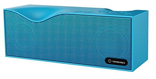 Soundance® Bluetooth -Lautsprecher mit FM Radio, eingebautem Mikrofon und LED-Anzeigeunterstützt 3,5 mm Audio- Line-In, TF Card/Micro SD-Karte und USB-Eingang, Modell B1 (blau)