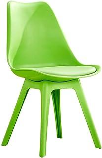 Skrivbordstol Matstol Hushåll Kreativ Enkel Plaststol Ryggstöd Nordeuropa Barn Vuxen Vardagsrum (färg: Grön)