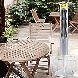 MINGJ Calentadores de terraza Calentador eléctrico 800w, Elemento Calefactor de Fibra de Carbono, Calefacción por Infrarrojos lejanos, Calentador Impermeable IPX67 para Jardines al Aire Libre