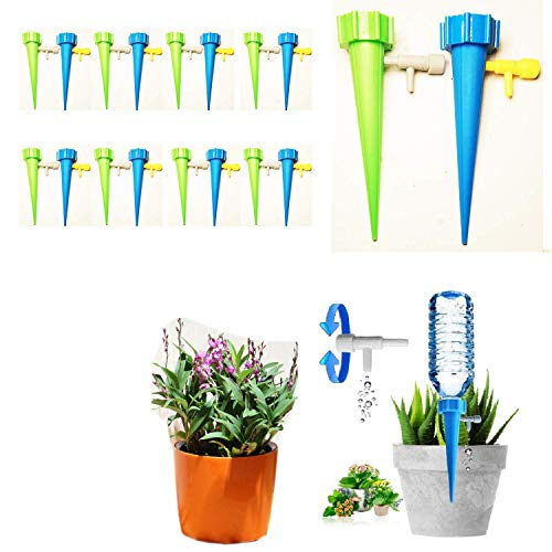 UGA Automatic Plant Watering Device 16 Packs, Plant Water Dispenser, controllable Automatic Watering Device, Outdoor Indoor Flower Pot Drinker