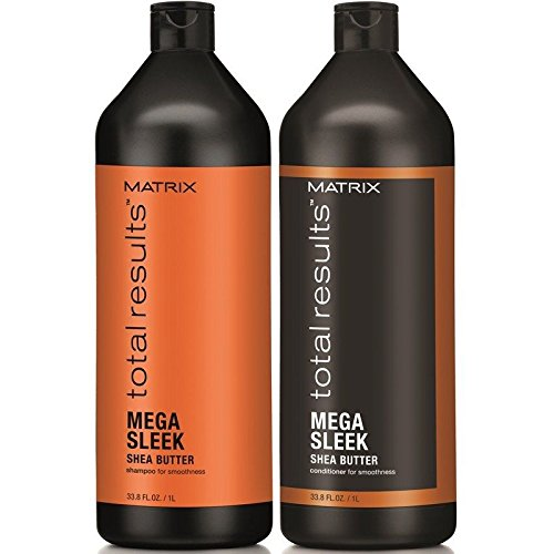 Matrix Total Results Sleek Shampoo & Conditioner Liter Duo 33.8 oz by Matrix