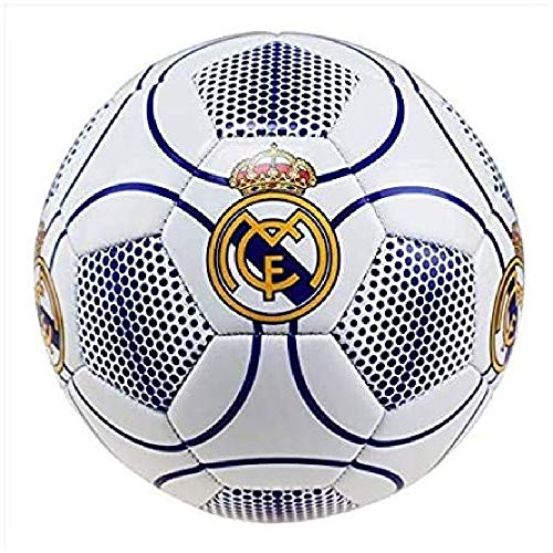 Real Madrid Balón de fútbol, número 3, Color Blanco, Talla 5