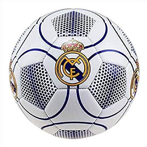 Real Madrid - Pallone da Calcio n. 3, Colore Bianco, Taglia 5