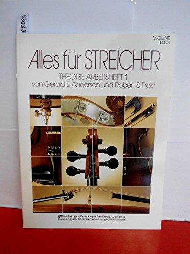 Alles für Streicher Band 1 : Theorie Arbeitsheft Violine