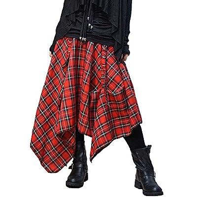 Hippies Women's Punk Vkei Skirts Knee Length Asymmetry Modern One Size 0305