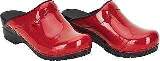 Sanita Sonja | Patent Mule Clog | Original Handmade Flexible Leather Clog for Women