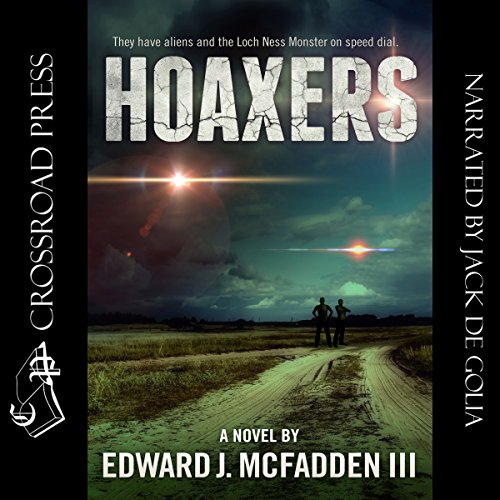 Hoaxers audiobook cover art