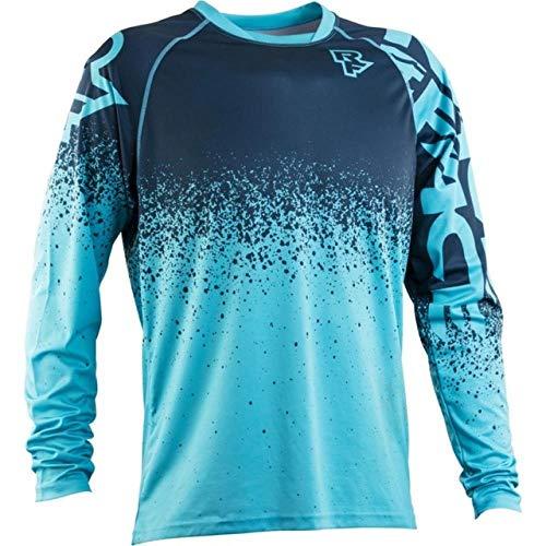 KKQTMY Jerseys de descenso para hombre RACE FACE Camisas de MTB para bicicleta de montaña Offroad DH Jersey de motocicleta Motocross Ropa deportiva FXR-XL