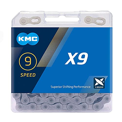 KMC, Gris Cadena X9, 9v, 114 eslabones, Hombres, Estándar