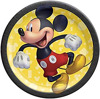 """Mickey Mouse Paper Round Plates 9"""" 