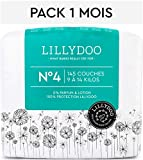 Couches LILLYDOO Taille 4 (9-14 kg) - 145 couches - Pack 1 mois