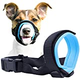 Gentle Muzzle Guard for Dogs - Prevents Biting and Unwanted Chewing Safely – New Secure Comfort Fit - Soft Neoprene Padding – No More Chafing – Training Guide Helps Build Bonds with Pet (M, Blue)