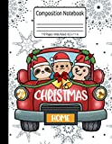 Christmas Truck Gift Hedgehog Otter Journal Sloth Composition Notebook 110 Pages Wide Ruled 8.5 x 11 in: Christmas Family Gifts