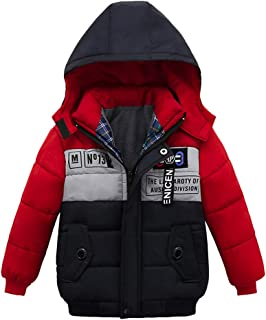 Kehen Kids Winter Hooded Trench Coat Toddler Girl Boy Warm Zipper Thickened Padded Lining Down Jacket Thick Outerwear