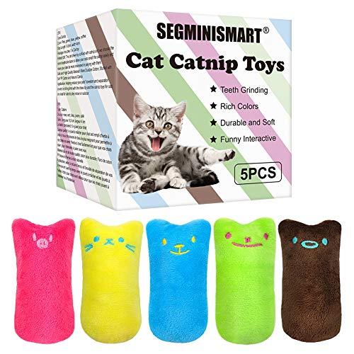 SEGMINISMART Hierba Gatera Juguete, Juguetes del Catnip, Interactivos para Gatos, Dientes para Masticar limpios, Juguete de gatol para Todos los Gatos y Gatitos Adecuado