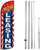 Now Leasing - Windless Swooper Flag Kit Feather Banner Sign - Starburst rq-h