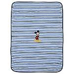 Disney-Mickey-Mouse-Super-Soft-Coral-Fleece-Baby-Blanket-BlueNavy