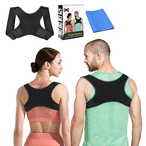 Posture Corrector for Men and Women, Upper Back Straightener Brace with Adjustable Effective Clavicle Support for Neck, Shoulder and Back Pain Relief