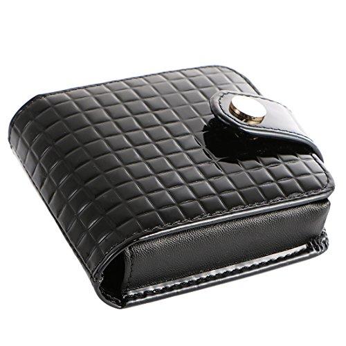 kilofly Lippenstift-Etui aus echtem Leder, mit Geschenkbox, Schwarz - Schwarz - Größe: Einheitsgröße