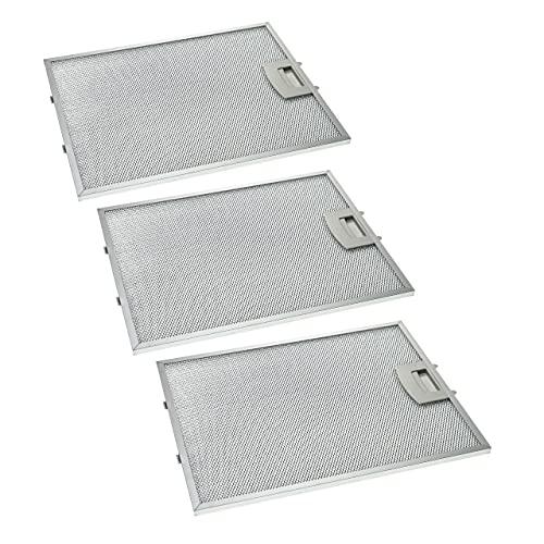 vhbw 3x filtro metálicos de grasa compatible con Neff D8902V0/04, D8902V0/05, D8902W0/01, D8902W0/03, D8902W0/04 campana extractora, metal