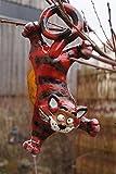 TB Keramik Katze hängend Gartendekoration Steinzeug Handarbeit Frostsicher