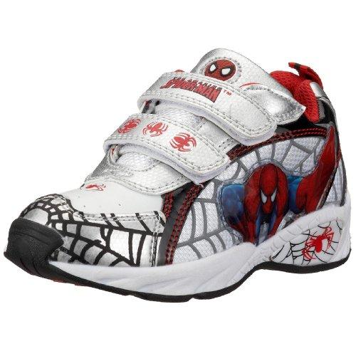 Spiderman Sport Shoe+Velcro SP300691 Baskets pour garçon - Argenté - Argent Si Wh Bk251, 25 EU