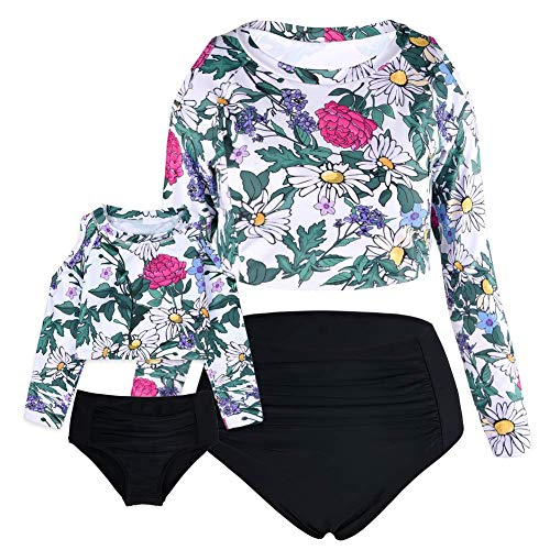 (15% OFF) Mommy & Me High Waist Tummy Control Bathing Suit Long Sleeve $22.09 – Coupon Code