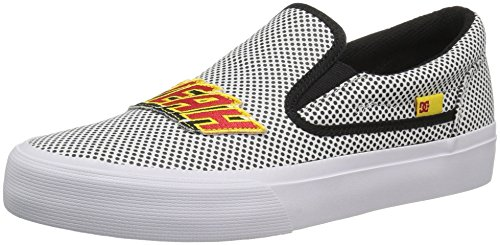 DC Women's Trase Slip-ON X at Skateboarding Shoe, Black/White, 10.5 M US