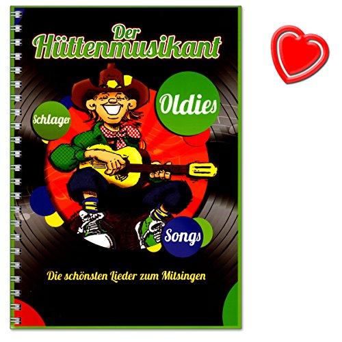 De huettenmusicant - De mooiste liedjes om mee te zingen - sfeerlieden, huttenlieden, slagers, rock-oldies, afscheidslieden, kerstlieden, folksongs - met hartvormige muziekklem