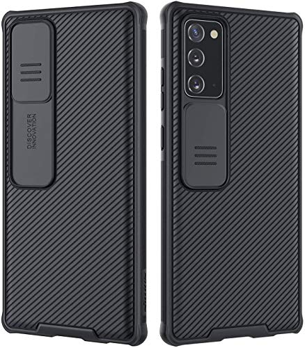 Nillkin CamShield Galaxy Note 20 Hülle - Einzigartig Hülle mit Kameraschutz & Anti-Rutsch, schlanke Schutzhülle für Samsung Galaxy Note 20 6,7 Zoll 2020, schwarz
