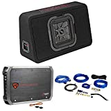 KICKER 46TL7T84 L7T 8' 350w Car Subwoofer Solo-Baric Sub in Slim Box+Amp+Wires
